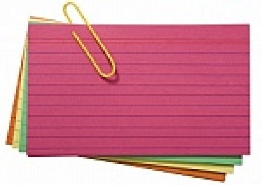 Blank index cards are perfect to use for your script writing