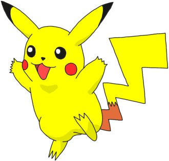 Pikachu is a short, chubby rodent-like Pokemon.