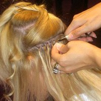 Applying micro-ring Hair Extensions