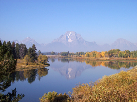 This picture is part of the Teton Mountains, just outside of Yellowstone National Park.