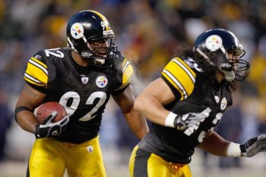 James Harrison and Troy Polamalu