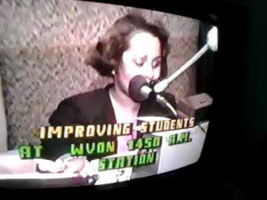 Me Hosting on WVON Radio, Chicago early 90's the night of the Rodney King verdict