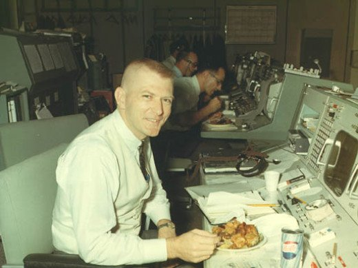 The famous Flight Director, Gene Kranz, who had a new vest made by his wife for each mission. 1965.