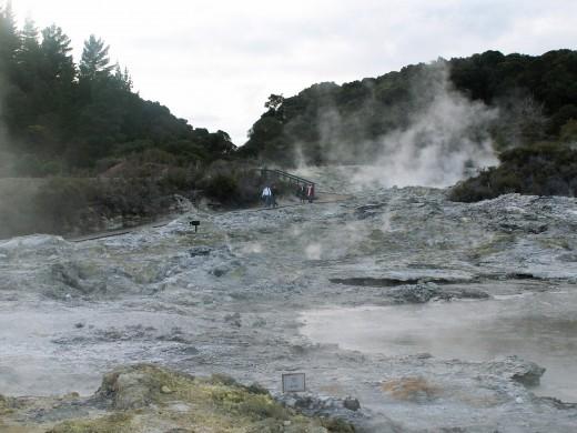 hells gate - names by Bernard Shaw - Rotorua