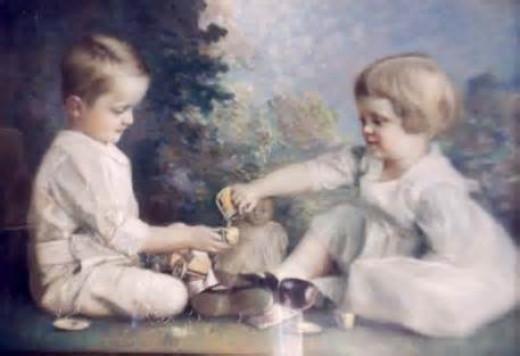 "Children's Tea Party"" by Morton H.B. Bly C.1919"