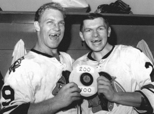 Bobby Hull and Stan Mikita