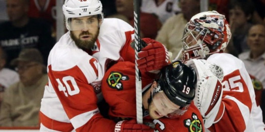 Henrik Zetterberg and Jonathan Toews