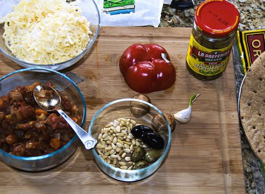 Pizza ingredients by swanksalot on Flickr
