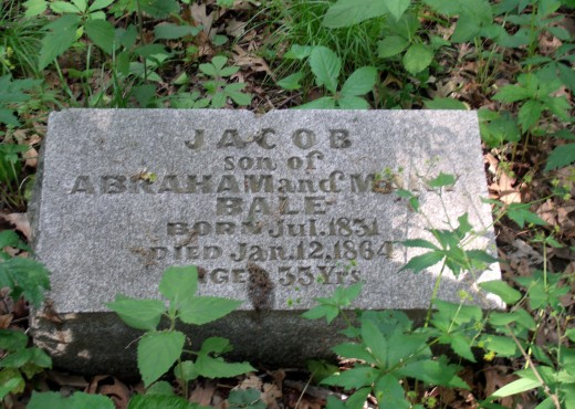 "headstone in the ""hidden"" cemetery"
