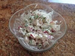 Radish in Sour Cream Salad
