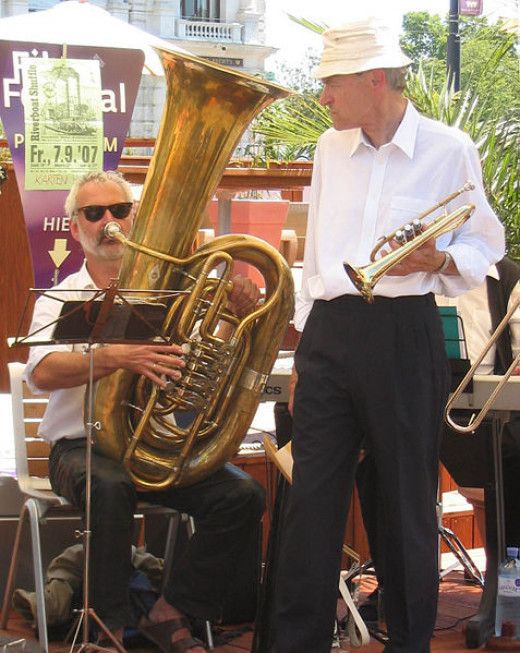 Members of Austrian jazz band Riverside Stompers