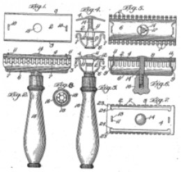 The original patent application for the safety razor.