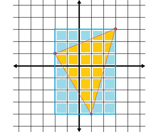 Draw a rectangle around the original triangle.
