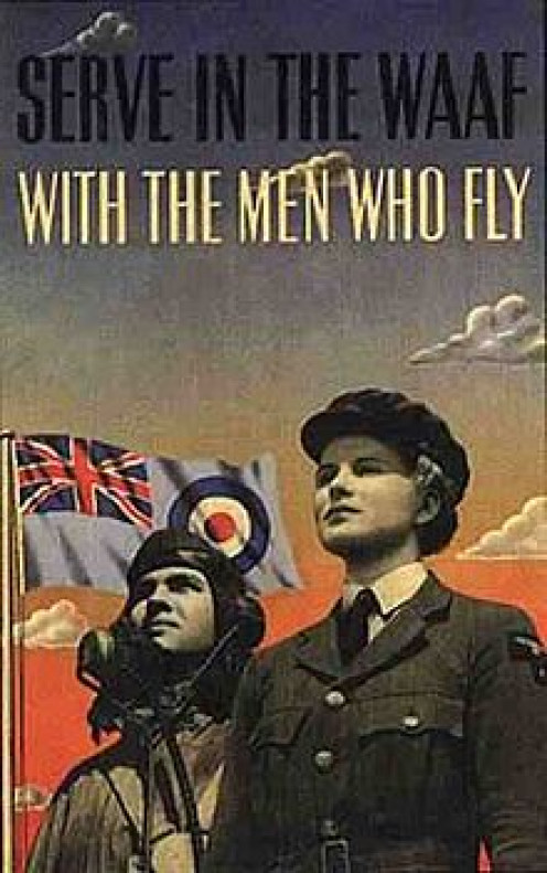 A Vintage WASPS poster to recruit women for Women's Airforce Service Pilots.
