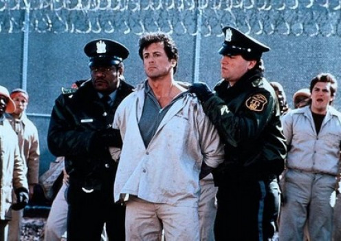 Sly Stallone stars in Lock Up. In this film Sylvester Stallone goes to prison for a crime he did not commit.  He is used by the prison to see if he can escape because, he is supposed to be one of the escapees of his time.