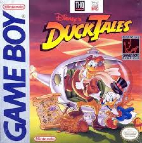 Duck Tales for the Gameboy was based on the hit cartoon.  It uses the same characters and music as the cartoon does.