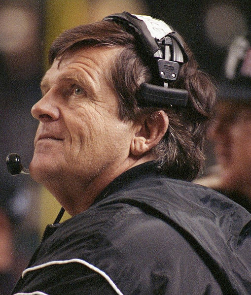 "Coach Jerry Glanville. He went 69-73 with the Houston Oilers and Atlanta Falcons and knew if he didn't win, he was out of a job. He coined the phase ""NFL means 'not for long' ""."
