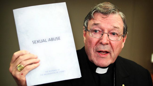 Cardinal George Pell, leader of the Roman Catholic church of Australia speaks to a press conference at Polding House Sydney about the proposed Royal Commission into sexual abuse.
