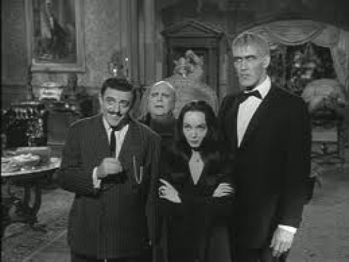 The Addams Family was a comedy sitcom about a scary family with a vampire and a witch. It competed with another comedy horror show entitled The Munsters.