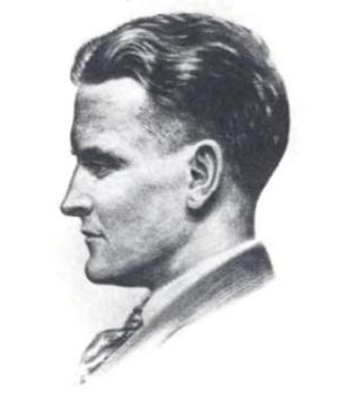 1921 drawing of F. Scott Fitzgerald by Gordon Bryant
