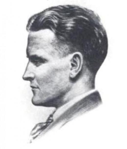 1921 drawing of F. Scott Fitzgerald by Gordon Bryant