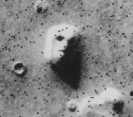 Face on Mars, NASA 1976 Image. Original Face on Mars photo.