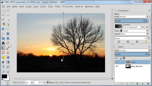 Fig. 1  How to post process your sunset images in GIMP 2.8