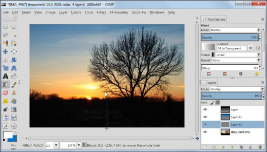 Fig. 5  How to post process your sunset images in GIMP 2.8
