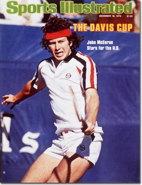 John McEnroe graces the cover of Sports Illustrated. He had a temper but he also has a winner's attitude.