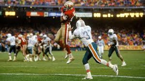 Jerry Rice is hands down the best receiver in football history. He played the majority of his career with the San Francisco 49ers.