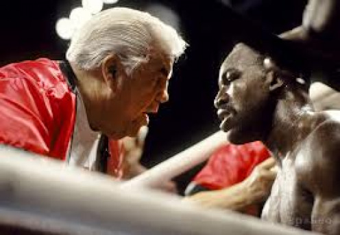 Lou Duva trained Pernell Whitaker, Meldrick Taylor and Evander Holyfield among others. He would argue and yell at the ref or the opposing corners in defense of his charge.