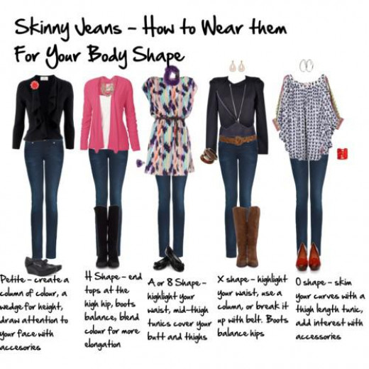 How to wear the correct skinny jean for your shape.