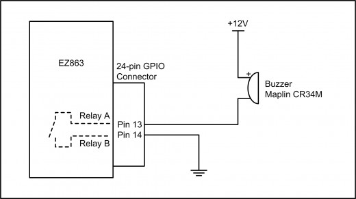 Figure 1.4: GPIO Relay Output Driving a Buzzer