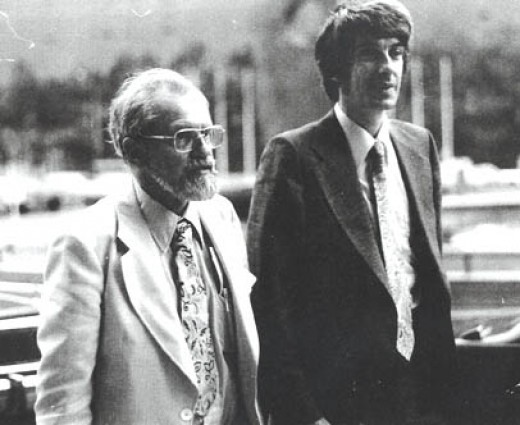 Dr. Hynek, on the left, worked extensively with Project Blue Book. At first a skeptic, he later became a believer.