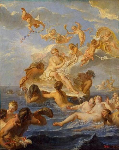 Birth of Venus by Noël-Nicolas Coypel