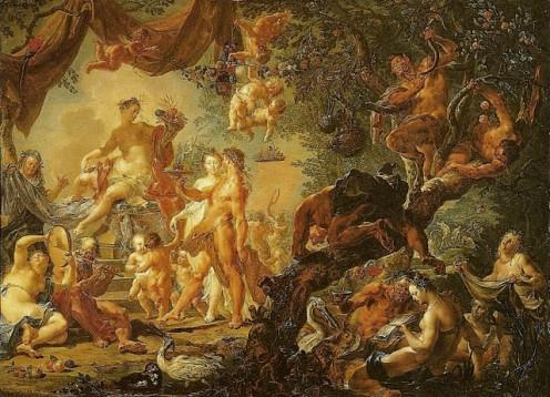 Casamento de Afrodite e Hefesto by Johann Georg Platzer