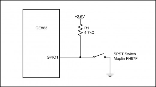 Figure 2.3: GPIO Input Example Using a Switch
