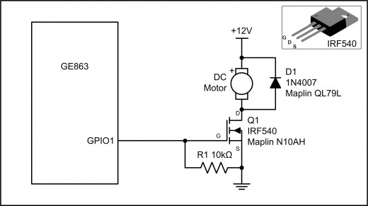 Figure 2.1: GPIO Output Example Using a MOSFET