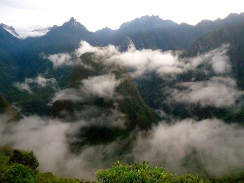 Inca Jungle Trail day 4: Views from the dawn trek up to the ancient inca city of Machu Picchu