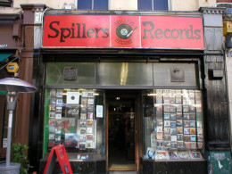 Spillers Records shop, Cardiff, Wales, 5 December 2007