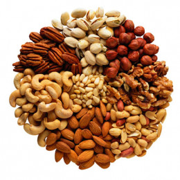 A beautiful array of nuts.