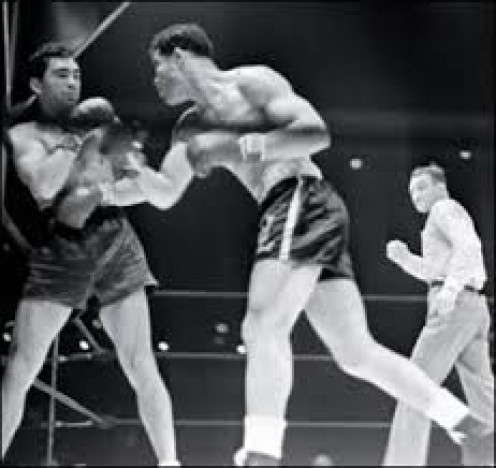 Joe Louis, seen here knocking out Max Schmeling in one round, was born in Alabama but raised in Detroit, Michigan.