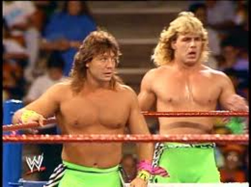 Shawn Michaels and Marty Janetty formed the tag team duo of The Rockers. Michaels went on to have an even more successful solo career.