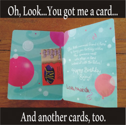 Like the Russian nesting dolls, you can place a card in a card.