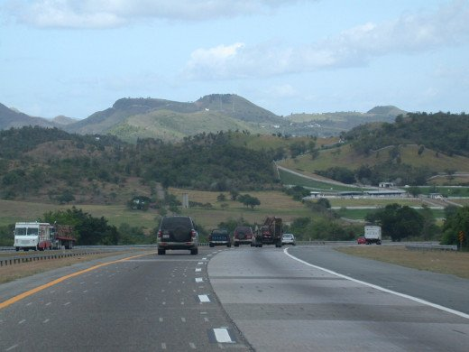 A scene from the Super Highway going to Ponce, Puerto Rico.