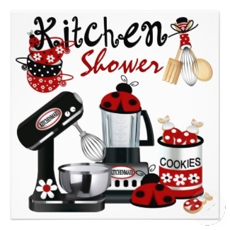 Kitchen Shower Theme Invitation