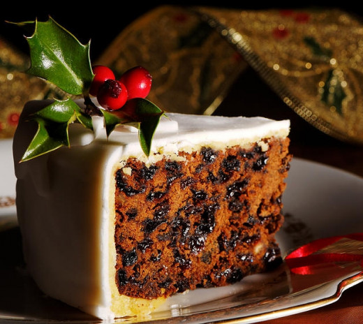 Many people love the rich icing on a Christmas cake