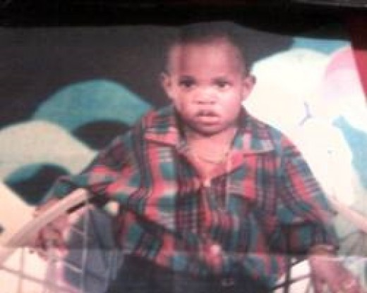 My little brother about 1 - 2 years old