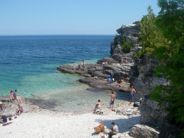 A view of the cove