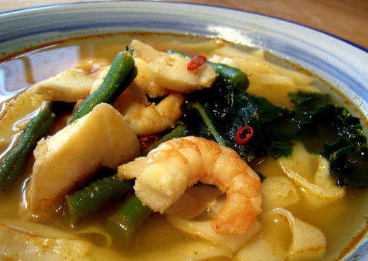 Seafood is a fabulous option for Tom Yum Soups